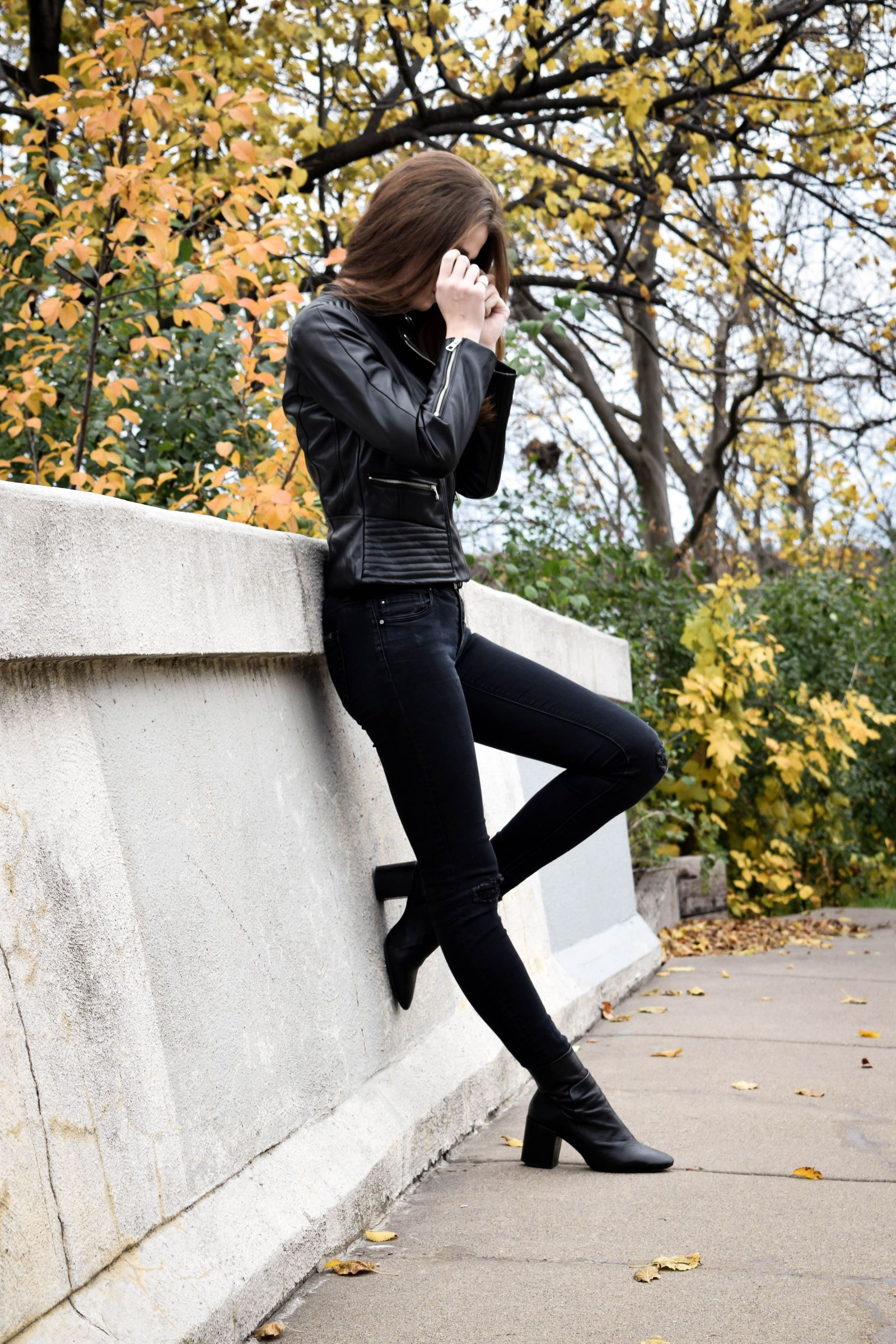 Leather Jacket 2 | Monochrome Minimalist
