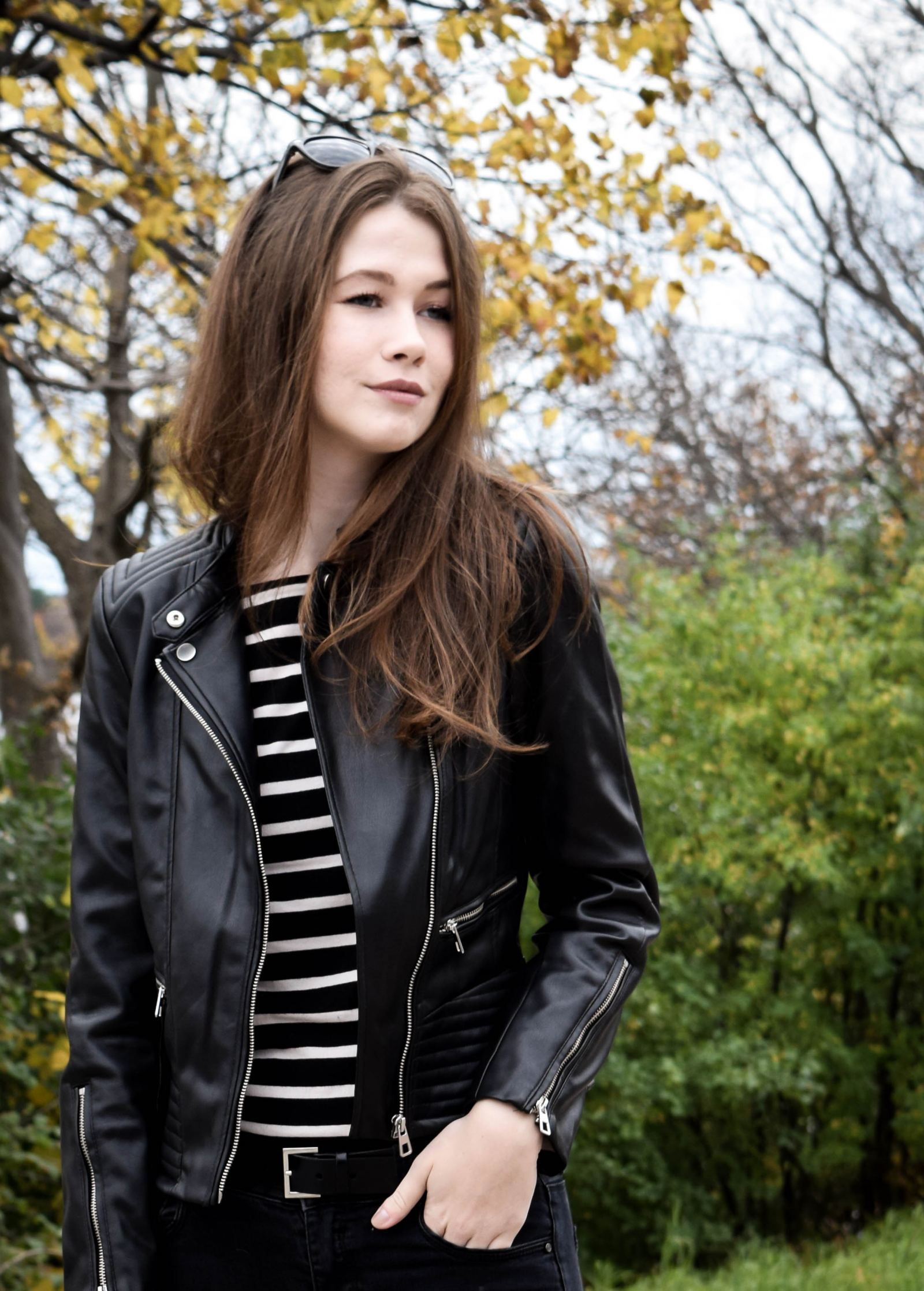 Leather Jacket 4 | Monochrome Minimalist