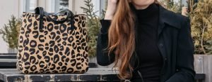 how to style a leopard print handbag