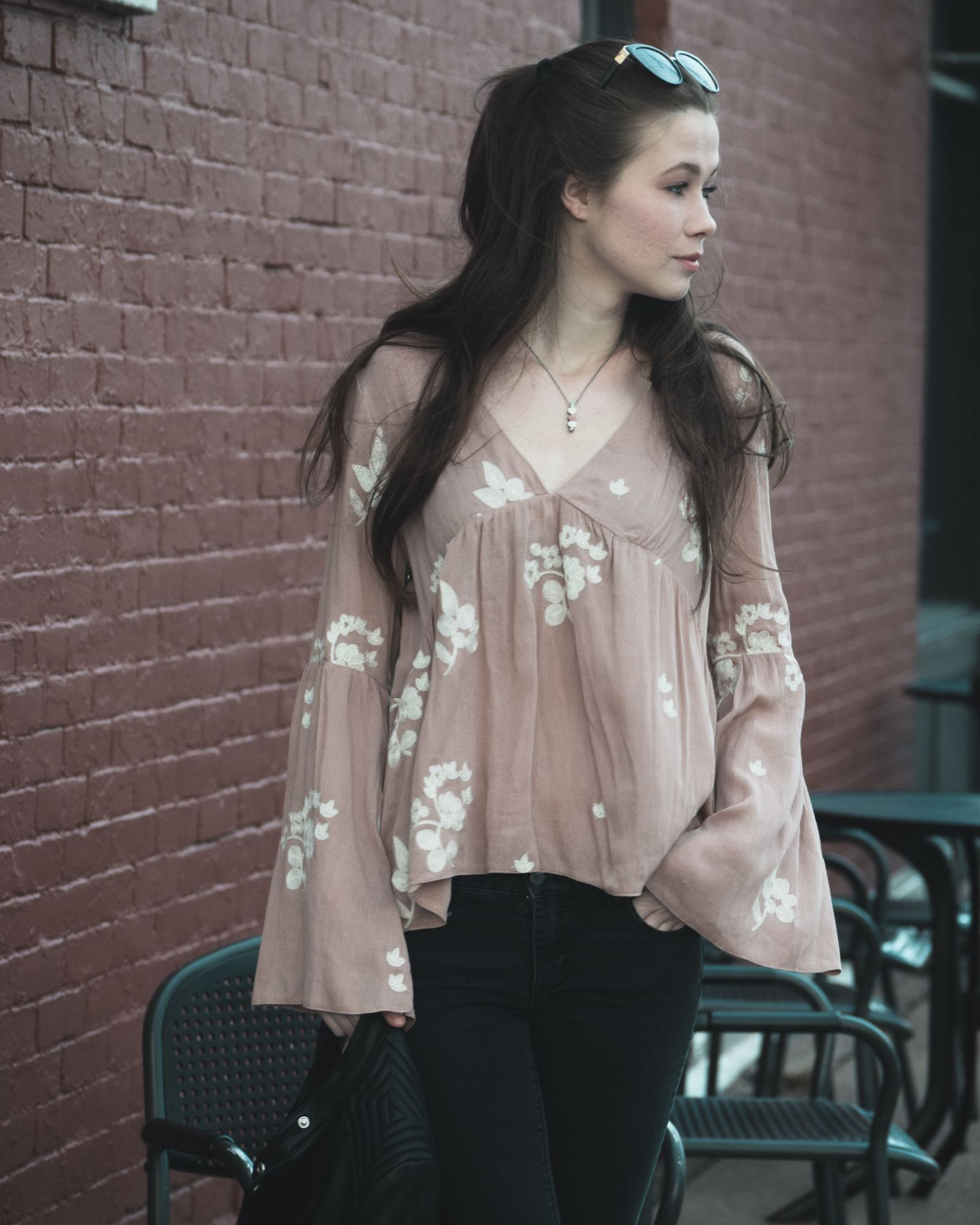 How to style a floral top