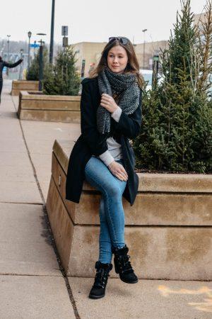 staying warm in winter | monochrome Minimalist | winter | holiday edit