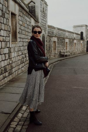 Topshop Boots, Prada Sunglasses, AllSaints Jacket, Who What Wear Collection Dress