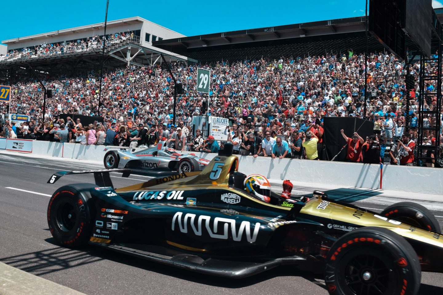 Gretchen Reese Digital, Monochrome Minimalist, Indianapolis 500, James Hinchcliff, 2018 Race