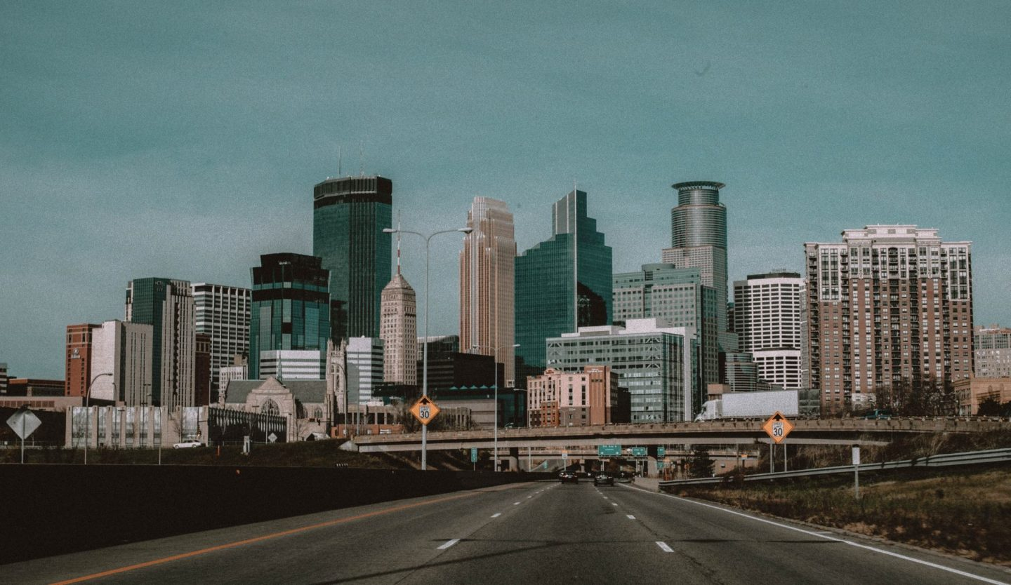 Minneapolis Skyline, Monochrome Minimalist