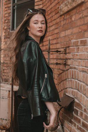 allsaints jacket, monochrome minimalist, coach handbag
